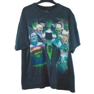 Justice League Shirt Superhero Villains XL Black